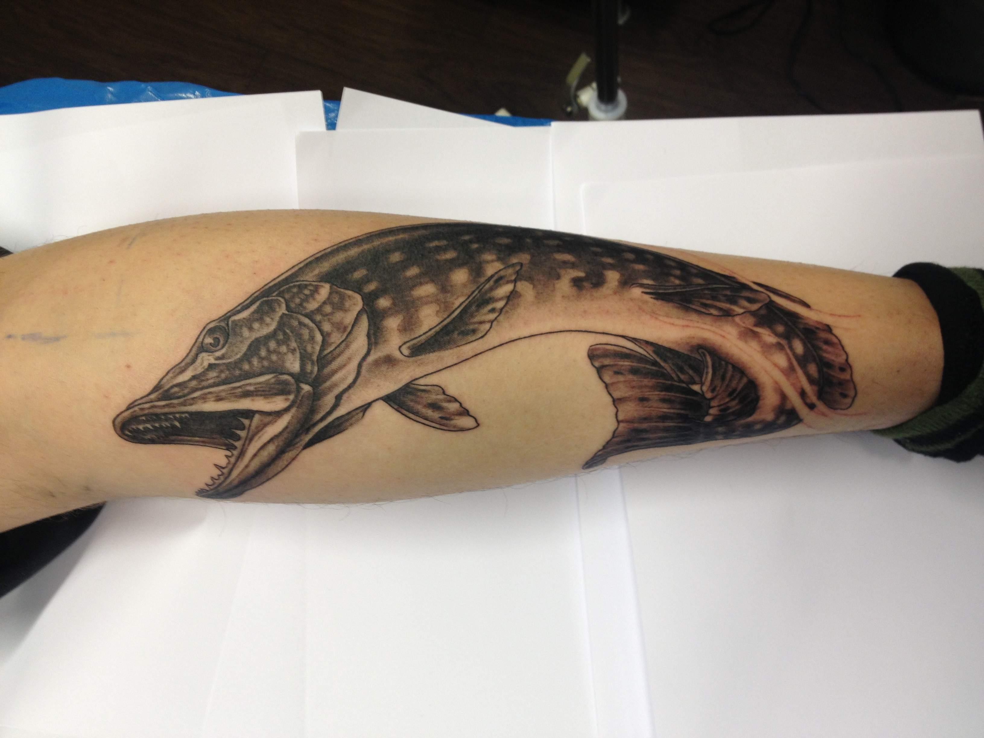 Gädda Tatuering